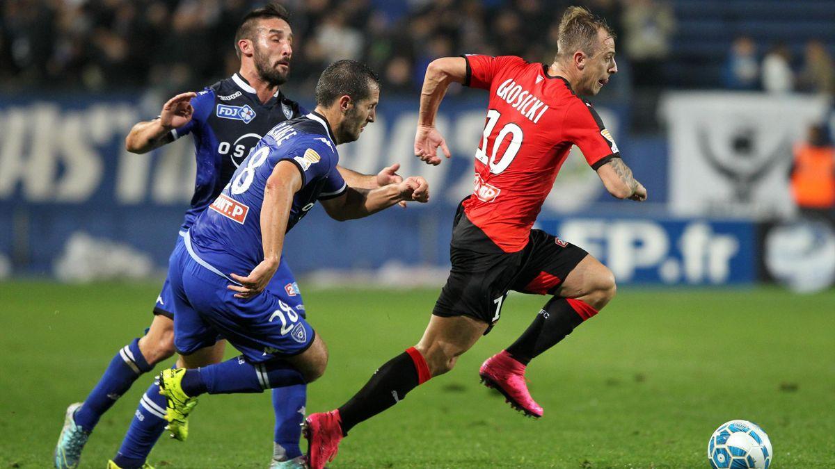 Kamil Grosicki lors de Bastia-Rennes - Coupe de la Ligue 2015