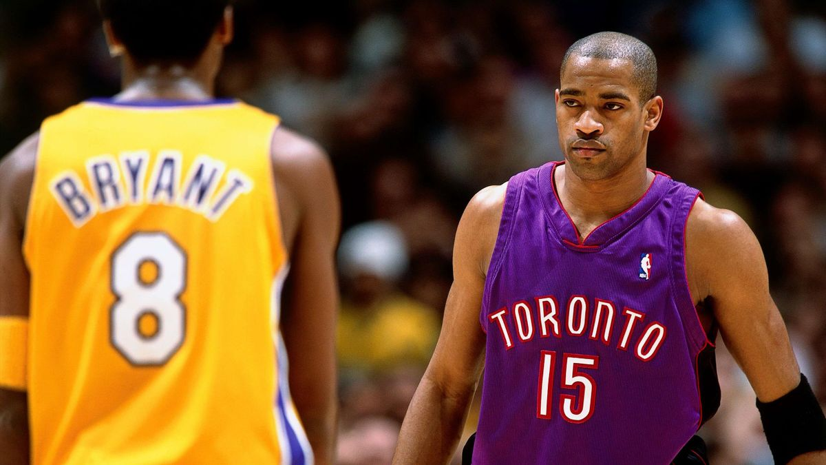 Vince Carter aux Toronto Raptors face à Kobe Bryant