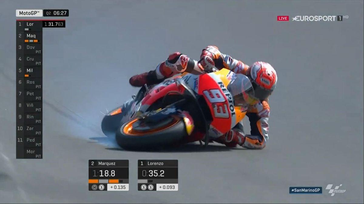 Crash Marc Marquez Misano