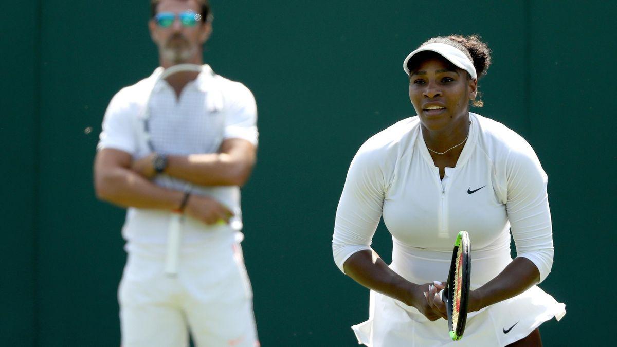 Serena Williams op Wimbledon 2018