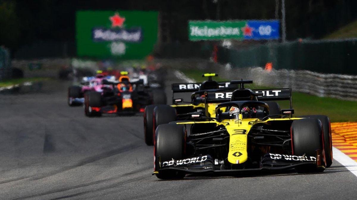 Daniel Ricciardo et Esteban Ocon (Renault) au Grand Prix de Belgique 2020