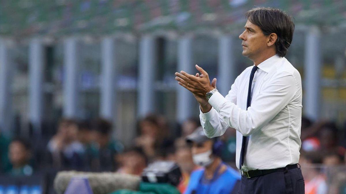 Simone Inzaghi durante Inter-Bologna - Serie A 2021-22