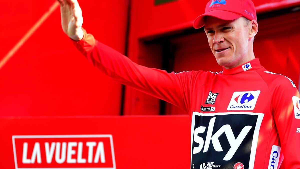 Chris Froome als Sieger der Vuelta 2017