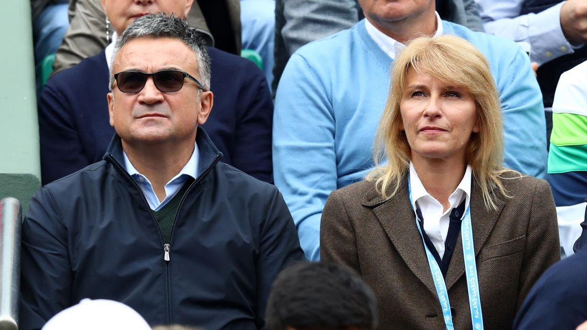 Srdan et Dijana Djokovic, les parents de Novak, ici en tribune à Roland-Garros.