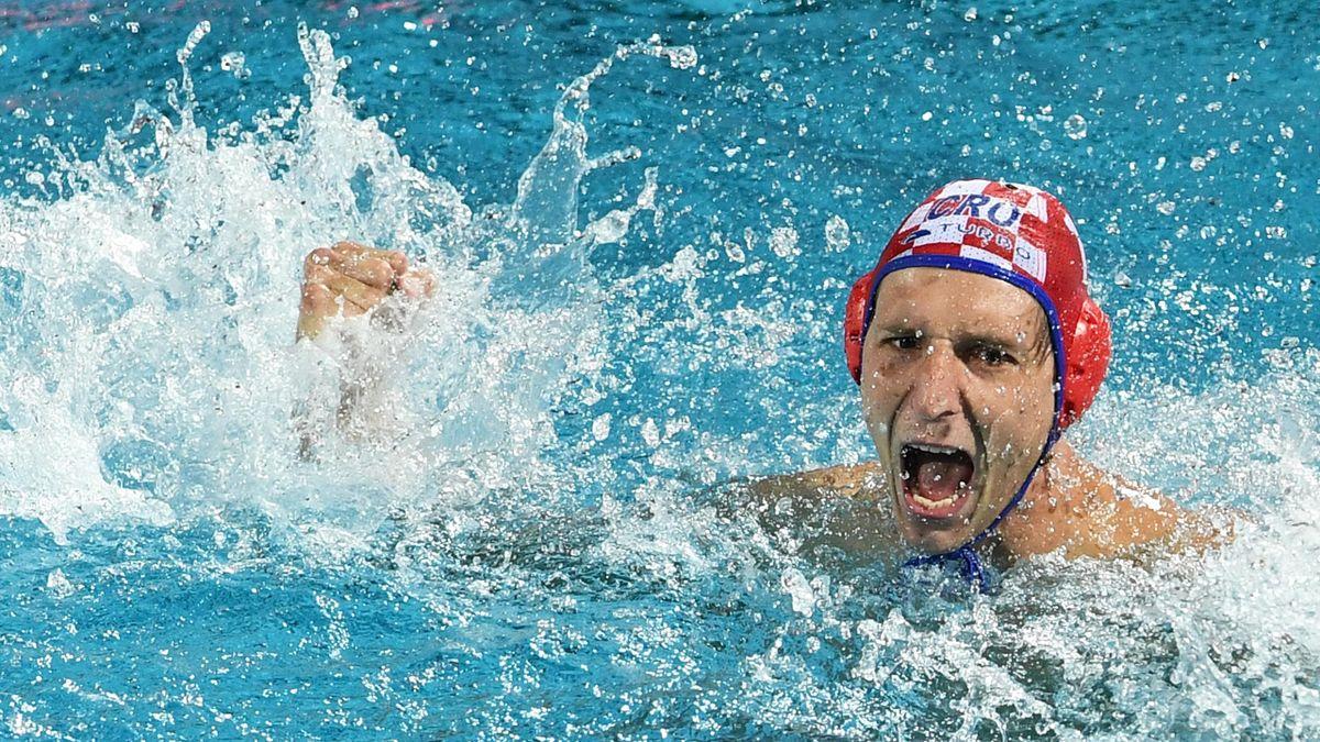 Jubel bei Kroatiens Wasserballern