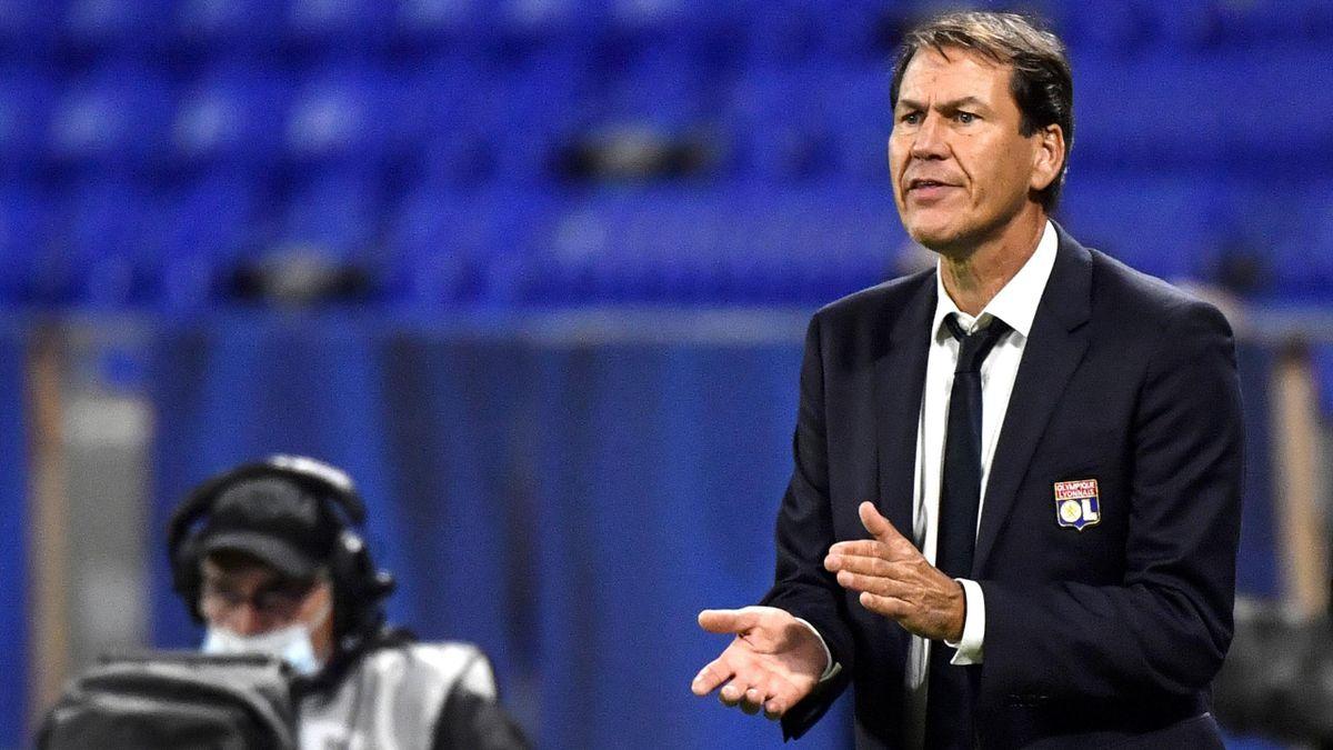 Rudi Garcia lors du match opposant Lyon à Dijon, en Ligue 1, le 28 août 2020