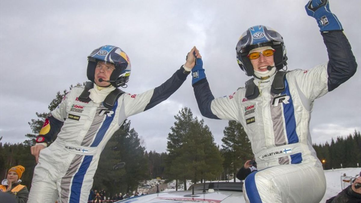 Jari-Matti Latvala (r.) und Co-Pilot Miikka Anttila haben die Schweden-Rallye gewonnen