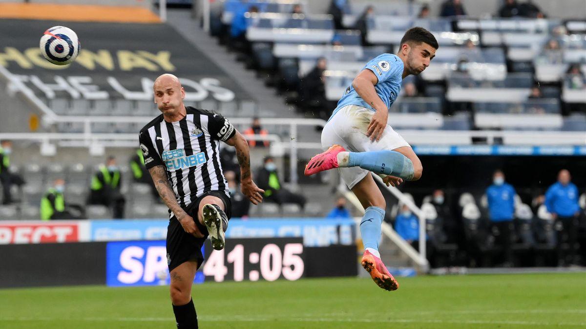 Il gol di tacco di Ferran Torres al Newcastle, Newcastle-Manchester City, Getty Images