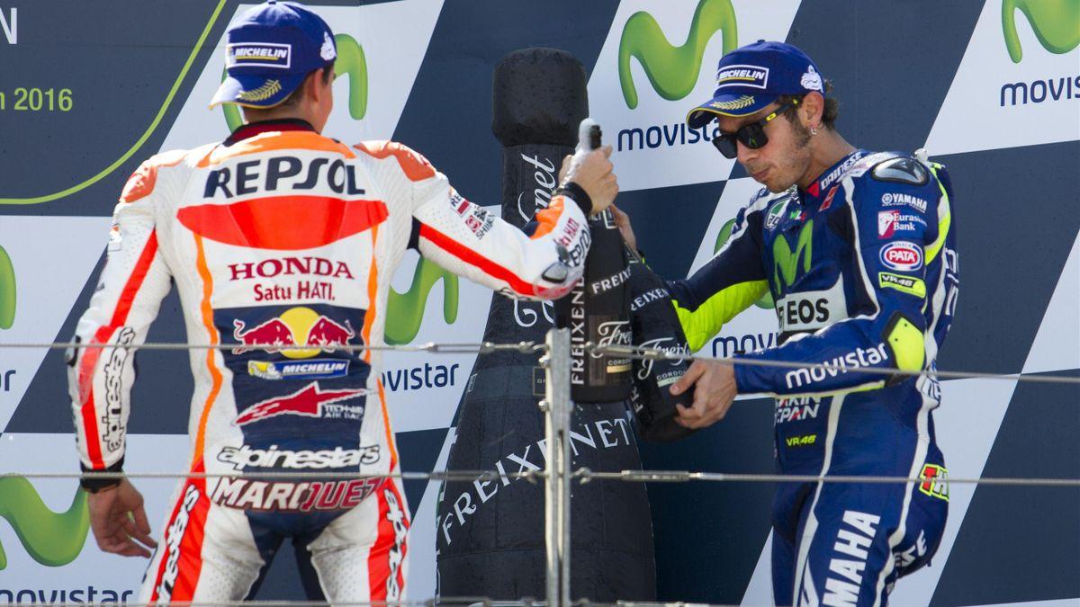 2016, Valentino Rossi, Marc Marquez, MotoGP, AFP