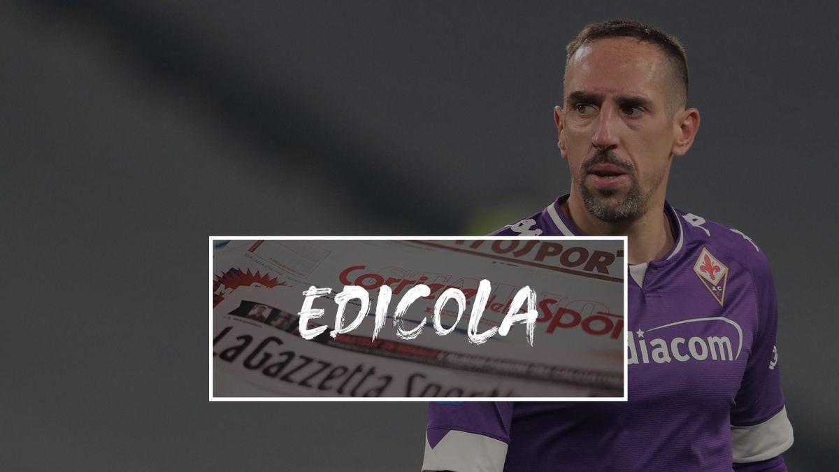 Edicola, Fiorentina: Franck Ribery