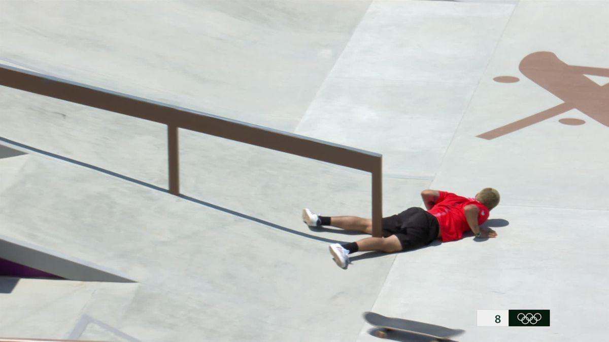 Tokyo 2020  Horrorcrash bij het skateboarden