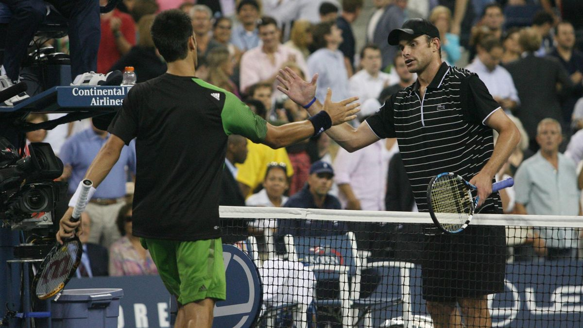US Open 2008 : Novak Djokovic et Andy Roddick.