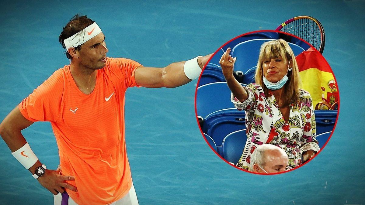 Rafael Nadal et sa nouvelle amie dans les tribunes.