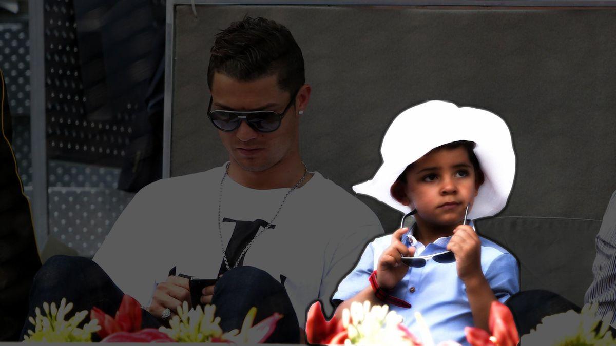 Сын Роналду с папой