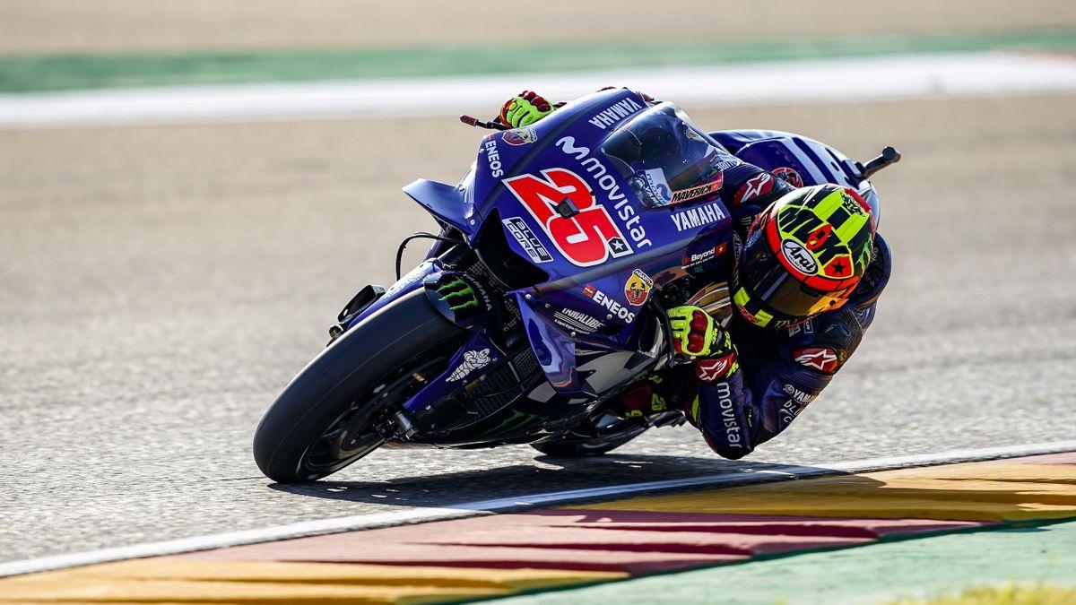 Maverick Viñales (Yamaha Factory) au Grand Prix d'Aragon 2018