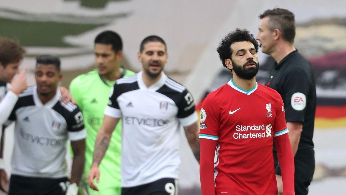Mo Salah looks dejected | Liverpool v Fulham