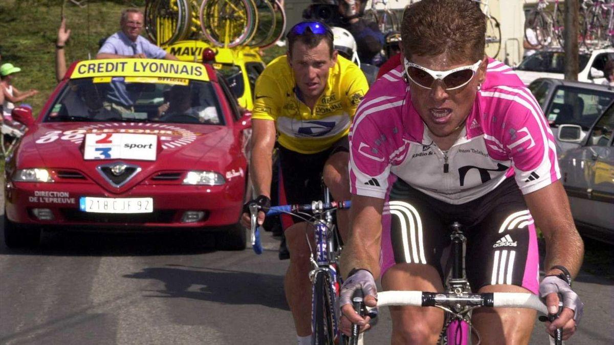 an Ullrich (Telekom), Lance Amstrong (US Postal) Tour de France 2000