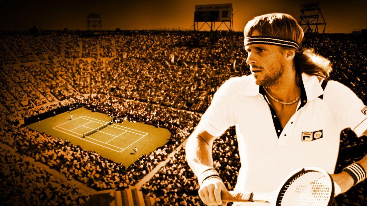 Bjorn Borg, le héros malheureux de l'US Open. (Visuel par Marko Popovic)