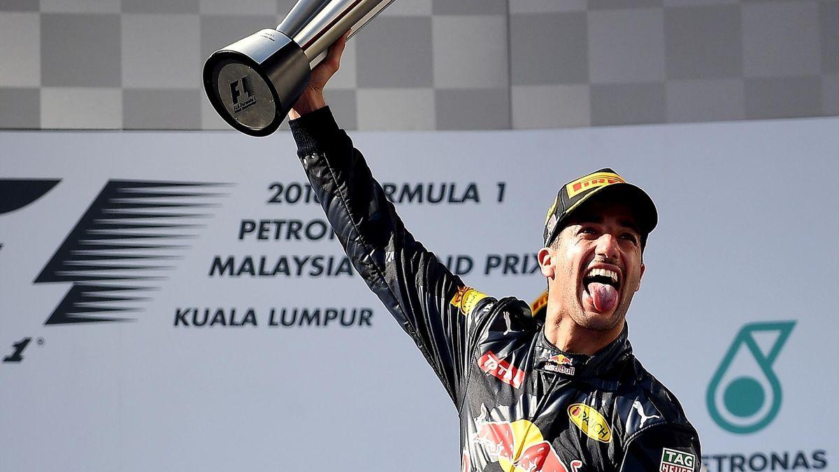Daniel Ricciardo (Red Bull), vainqueur du Grand Prix de Malaisie