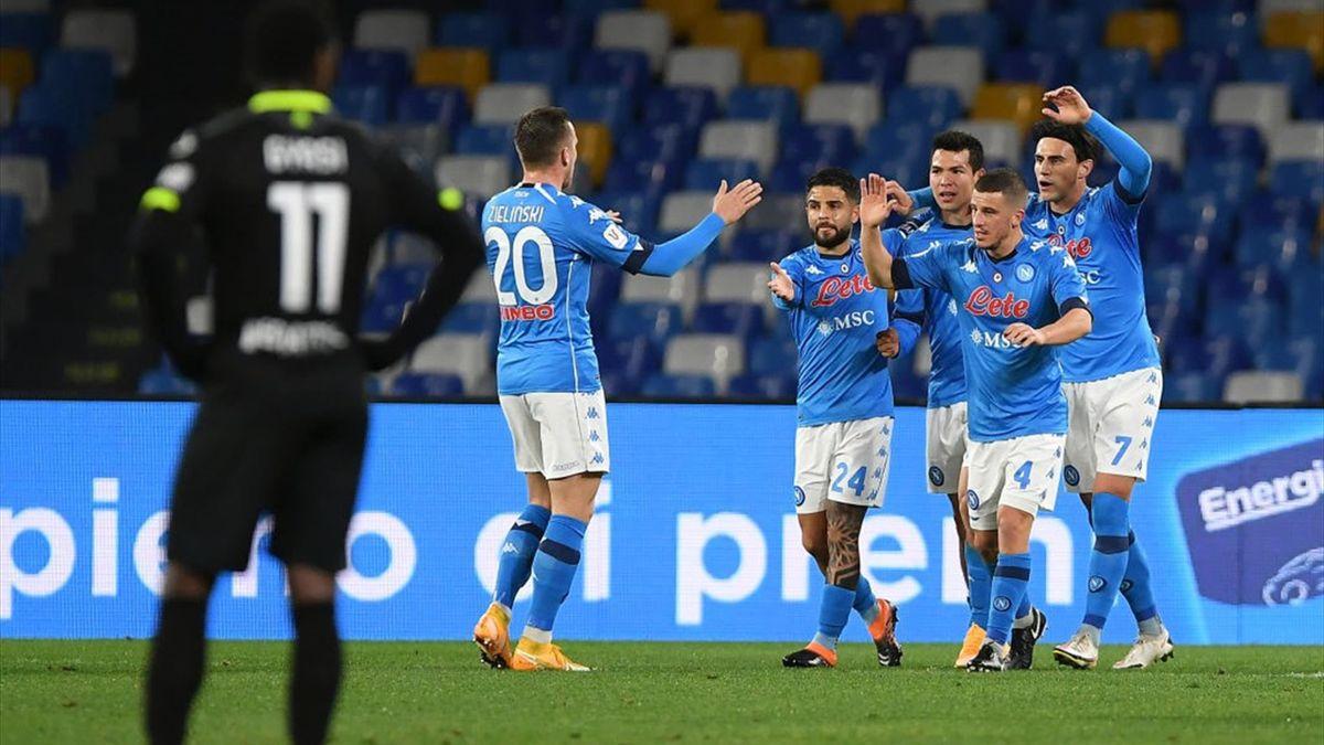 Lozano - Napoli-Spezia - Coppa Italia 2020/2021 - Getty Images