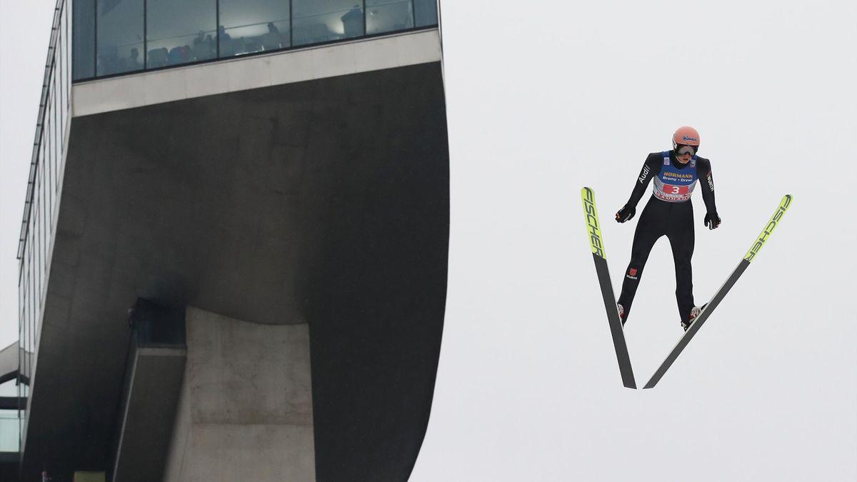 Karl Geiger beim Bergiselspringen in Innsbruck 2020