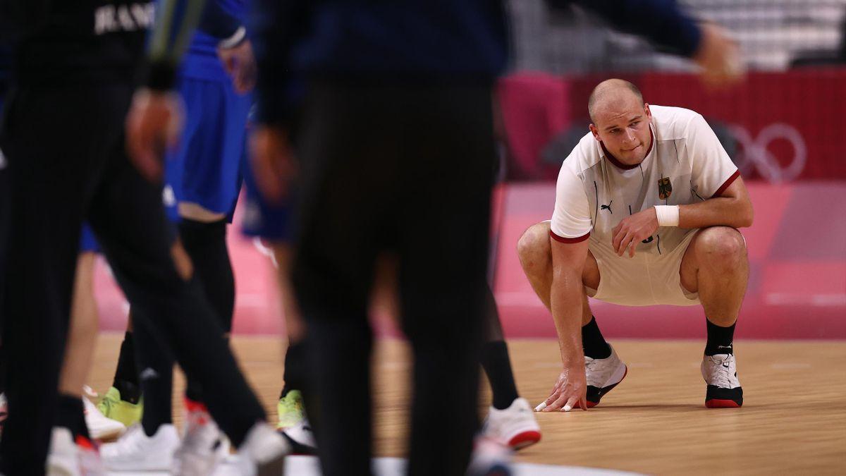 Paul Drux (Deutschland) im Spiel gegen Frankreich - Olympia 2021