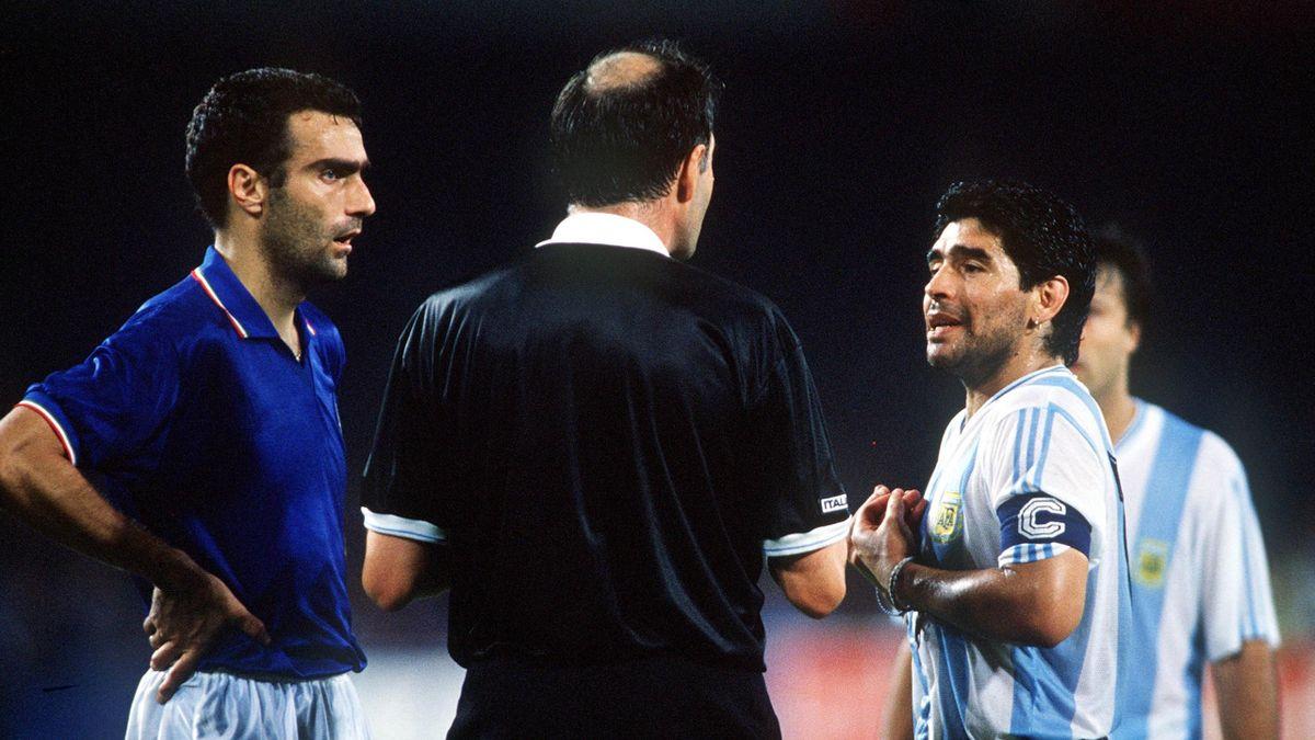 Bergomi și Maradona, la CM 1990