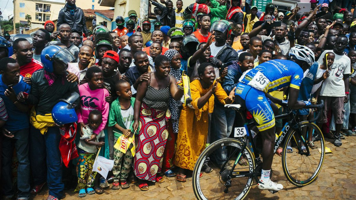 The cobbled streets of Kigali never fail to deliver bumper crowds at the Tour du Rwanda