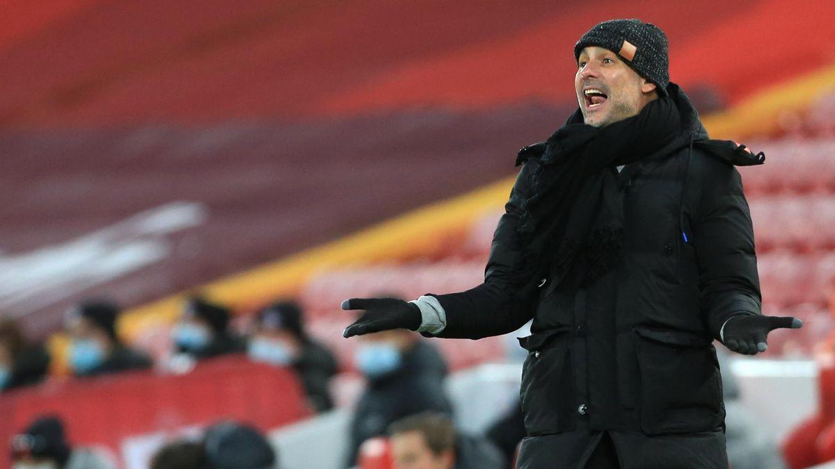 Pep Guardiola jubelte über den City-Sieg beim FC Liverpool