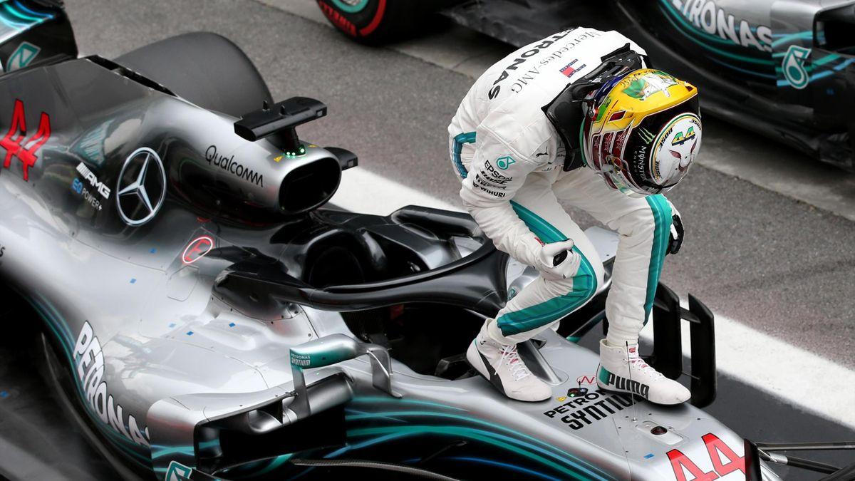 Lewis Hamilton (Mercedes) au Grand Prix du Brésil 2018