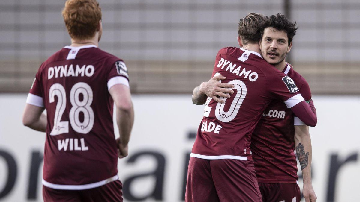 Jubel bei Dynamo Dresden