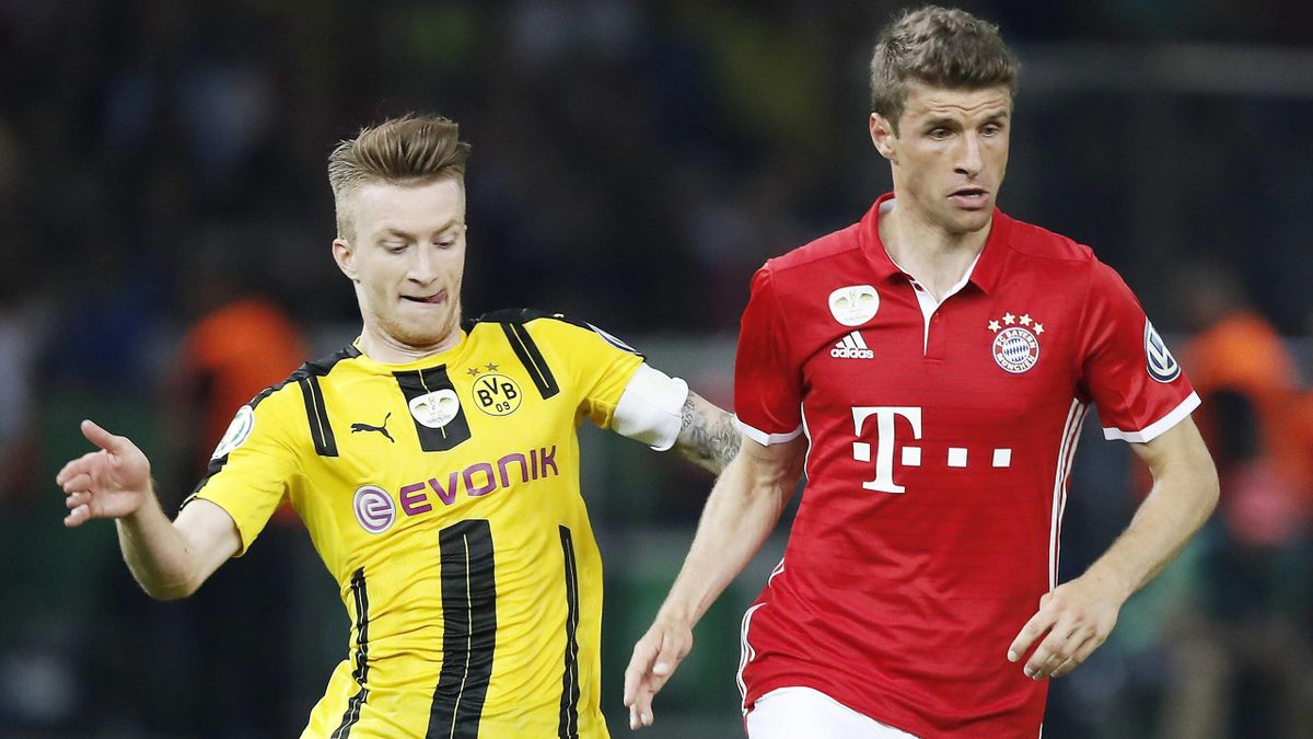 Bundesliga - Marco Reus (BVB), Thomas Müller (FC Bayern München)