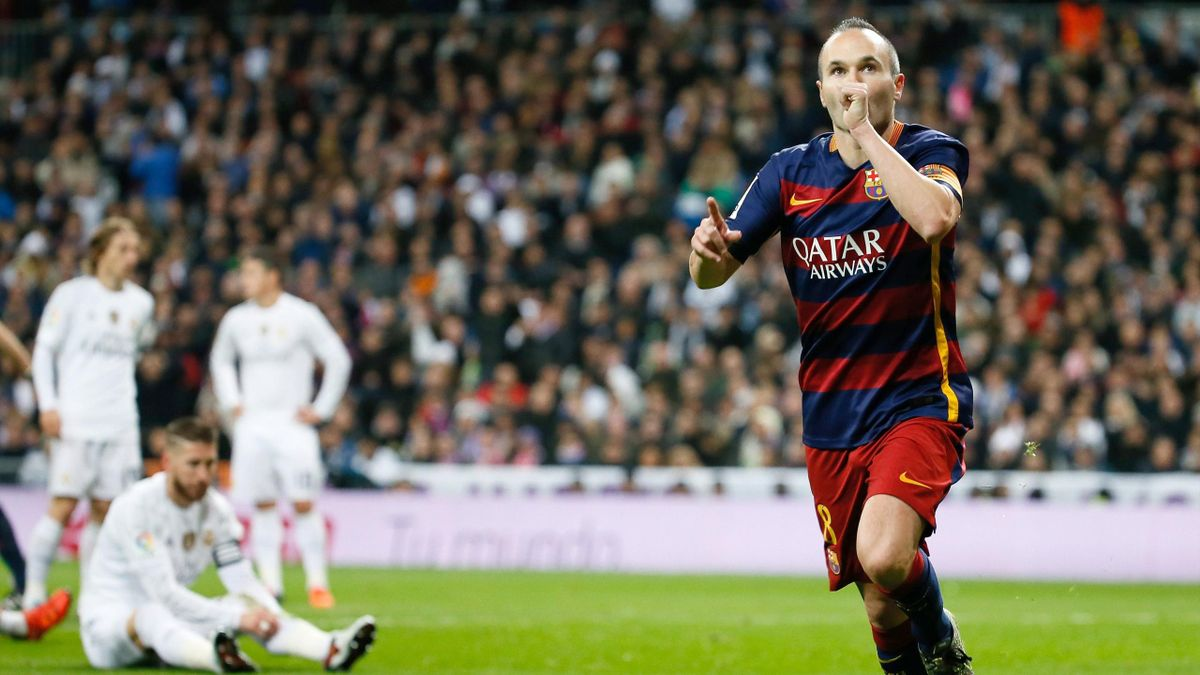 Iniesta en el Real Madrid-FC Barcelona