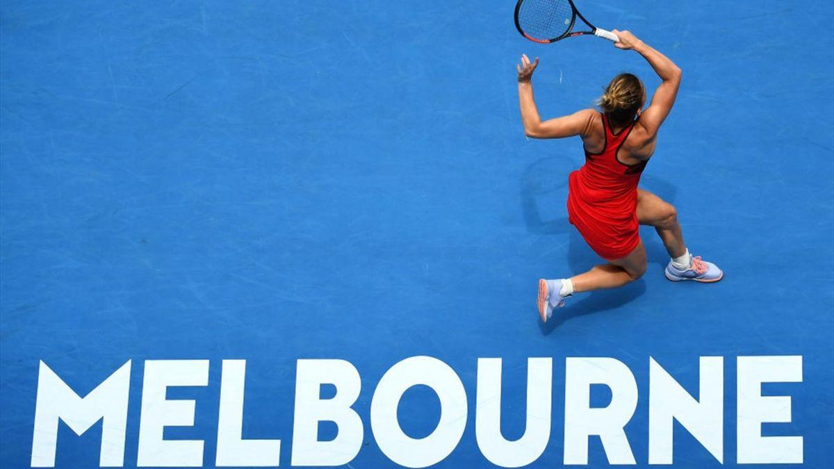 Simona Halep lovește la Australian Open