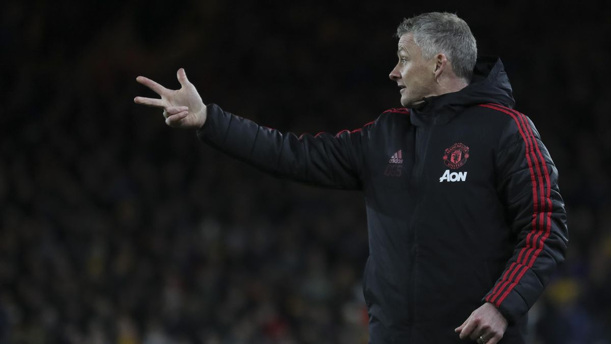 Ole Gunnar Solskjaer the manager / head coach of Manchester United during the Premier League match between Wolverhampton Wanderers and Manchester United at Molineux on April 2, 2019 in Wolverhampton, United Kingdom.