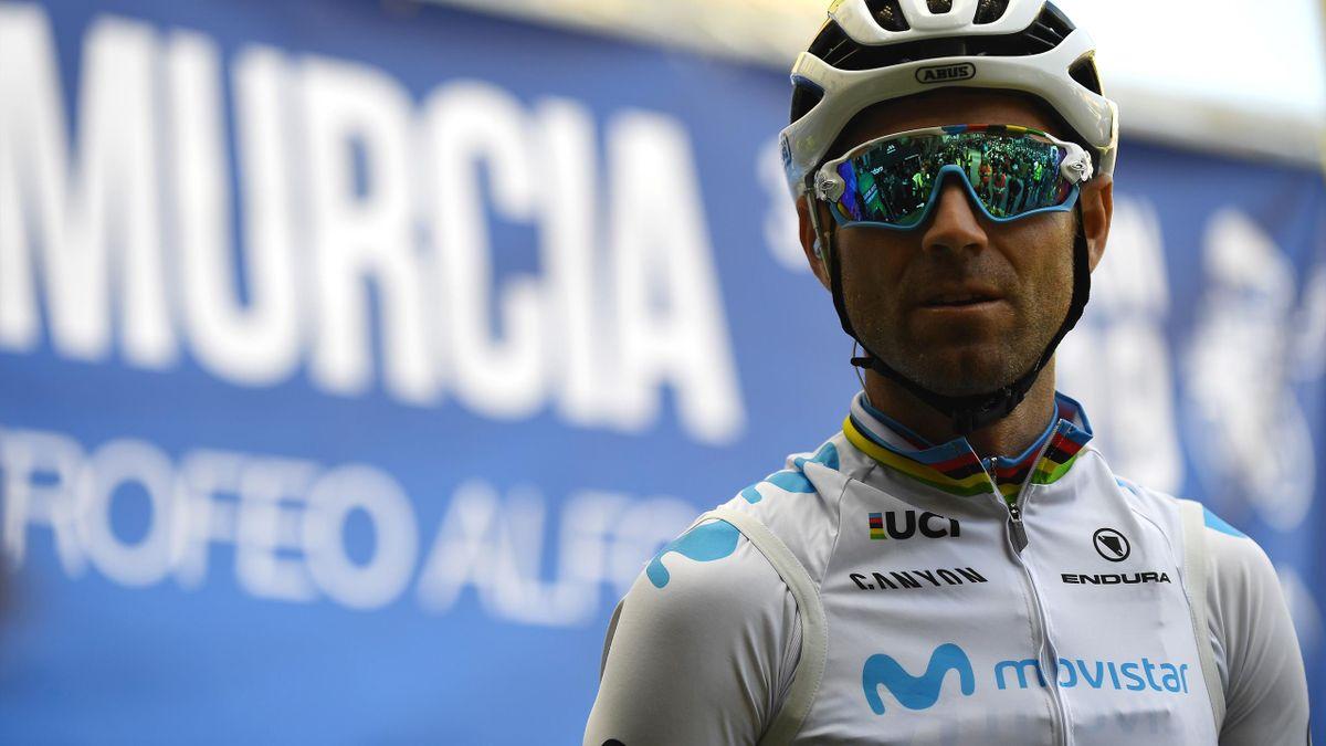Alejandro Valverde Belmonte, con el maillot de campeón del mundo