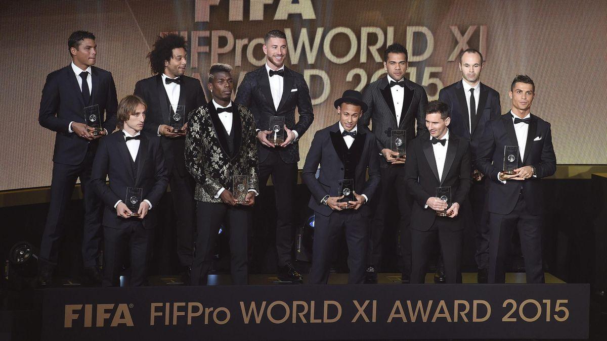 Once ideal del año de la FIFA en la gala del Balón de Oro