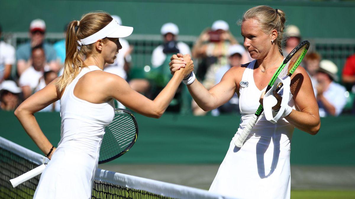 Kiki Bertens wint van Barbora Stefkova in de eerste ronde van Wimbledon 2018