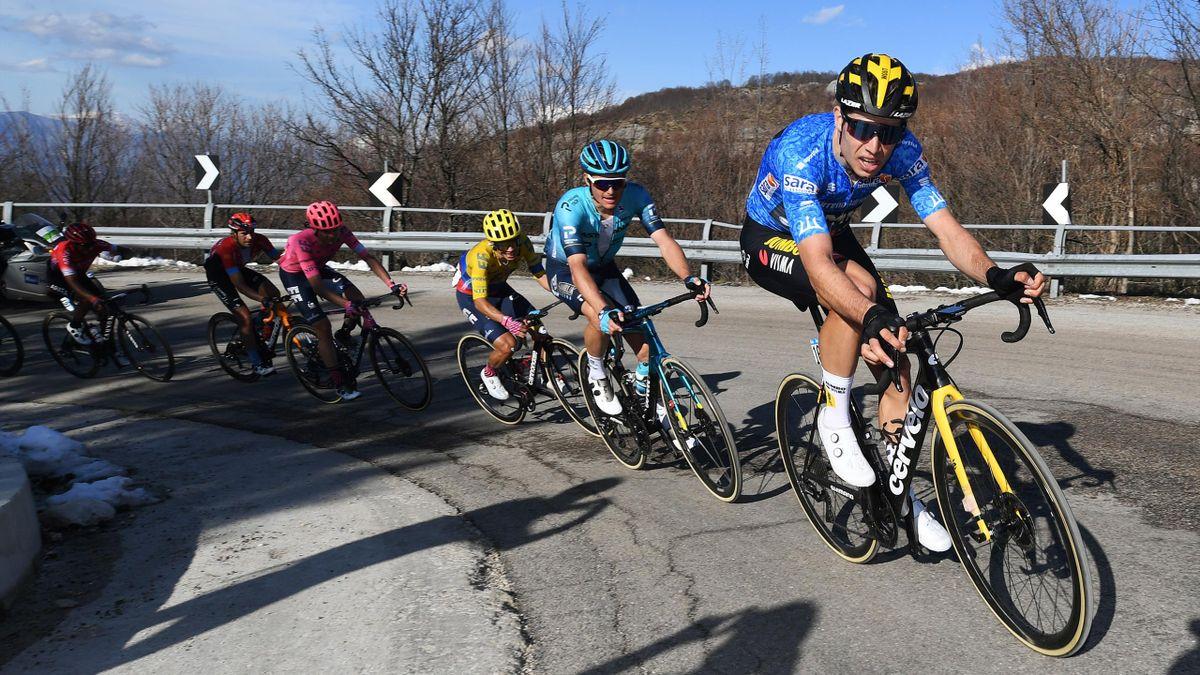 Wout Van Aert (Jumbo-Visma) joue avec les grimpeurs, sur la 4e étape de Tirreno-Adriatico 2021