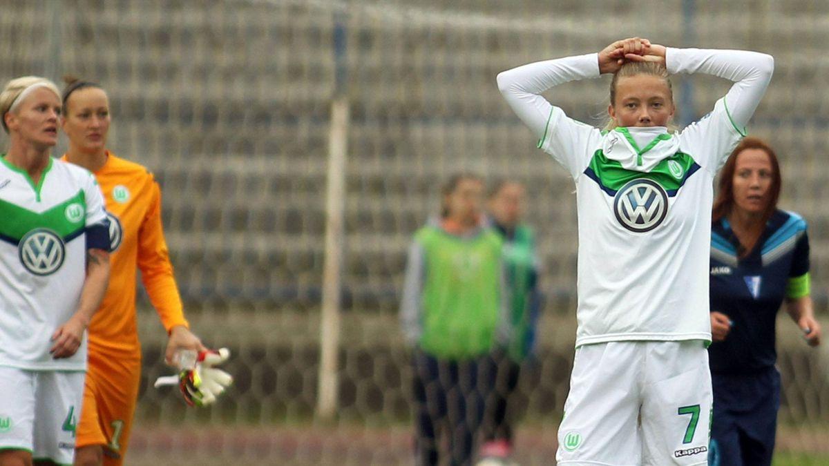 An der Chancenauswertung gescheitert: Die Frauen des VfL Wolfsburg