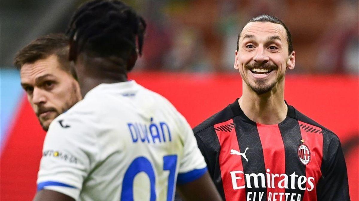 Ibrahimovic și Zapata au avut un schimb de replici în partida Milan-Atalanta