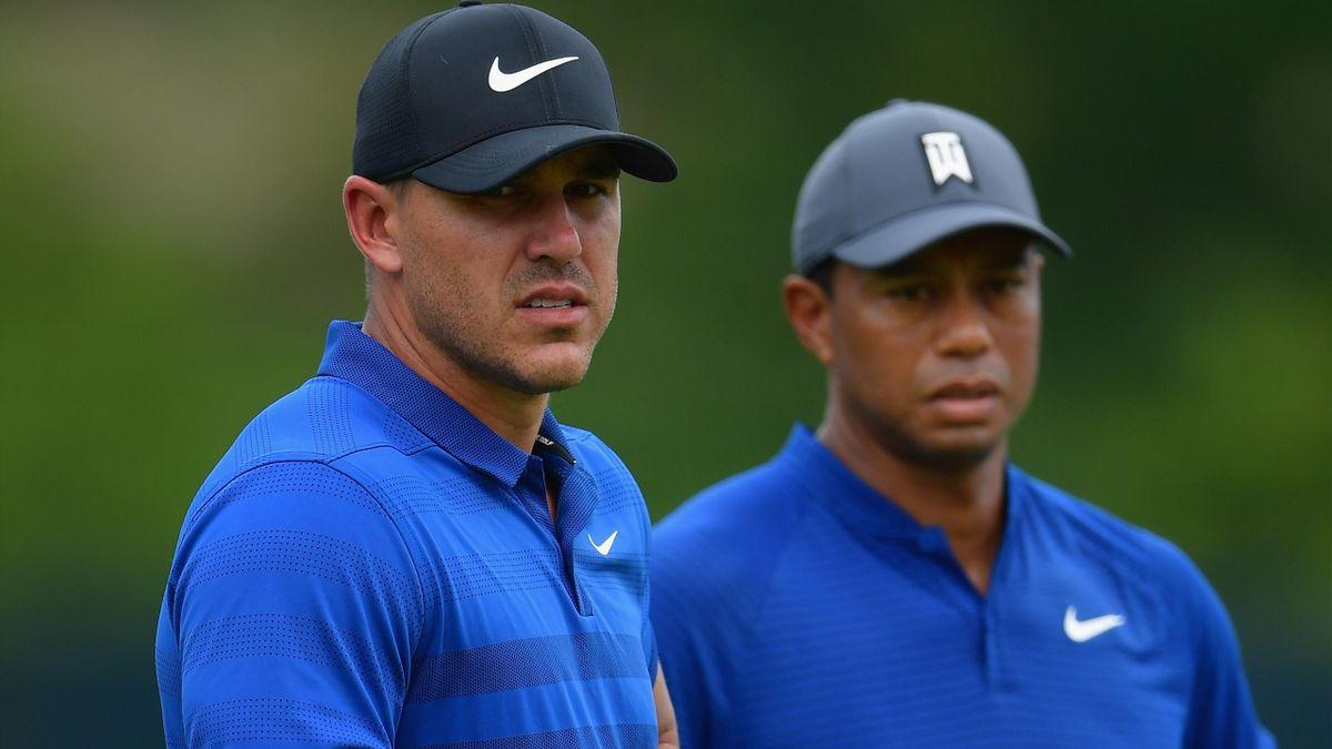 Brooks Koepka et Tiger Woods.