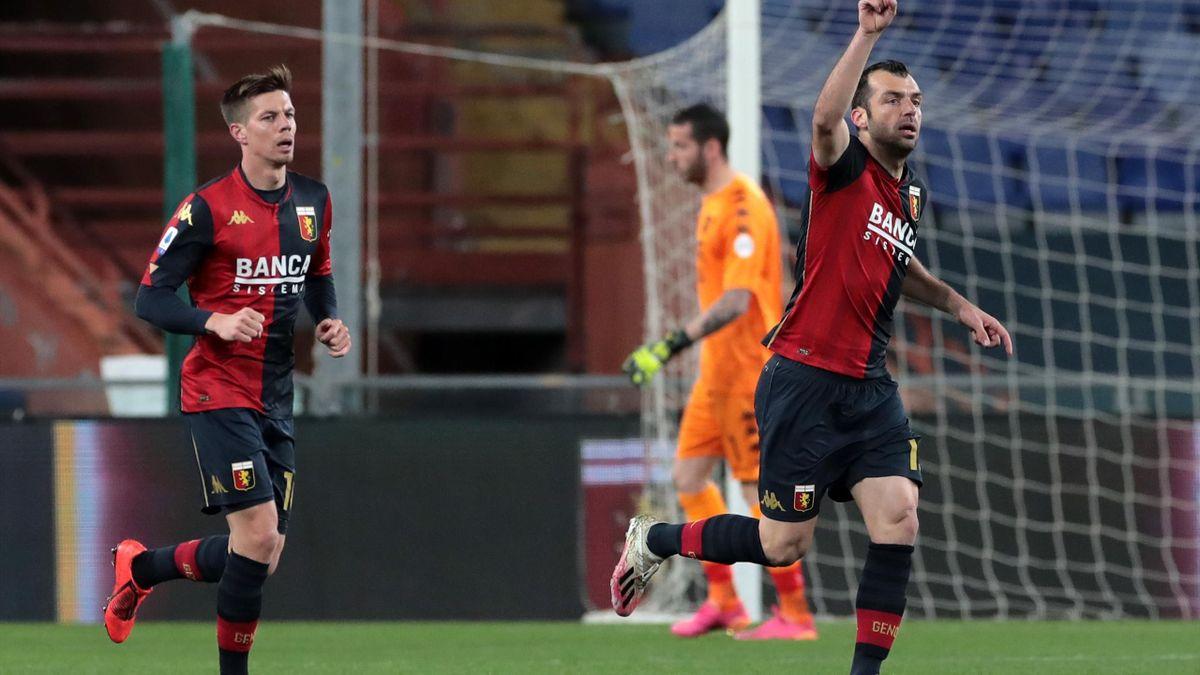 L'esultanza di Goran Pandev, Genoa-Benevento