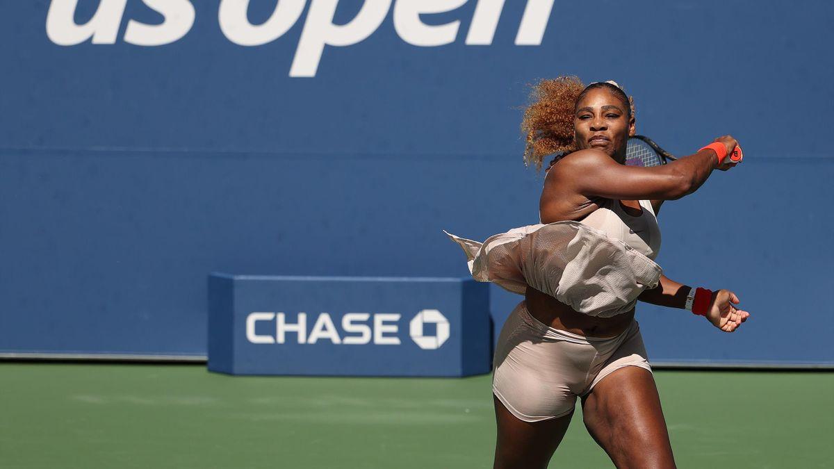 Serena Williams im Match gegen Maria Sakkari - US Open 2020