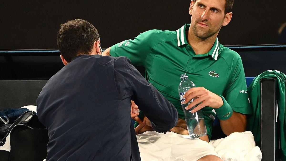 Novak Djokovic, accidentare Australian Open 2021