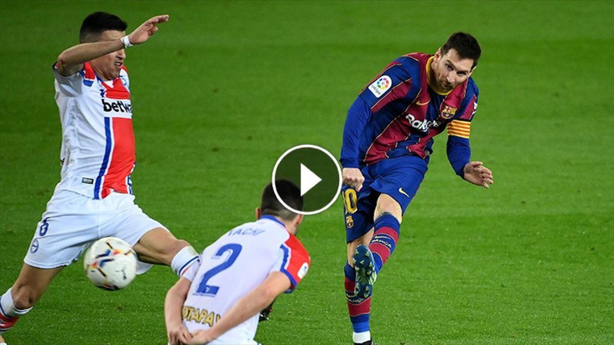 Messi, FC Barcelona- Deportivo Alaves