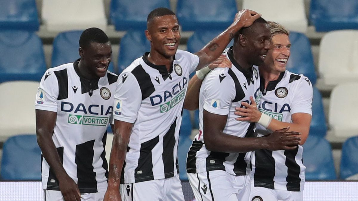 La gioia di Stefano Okaka Chuka (Udinese), Sassuolo-Udinese, Getty Images
