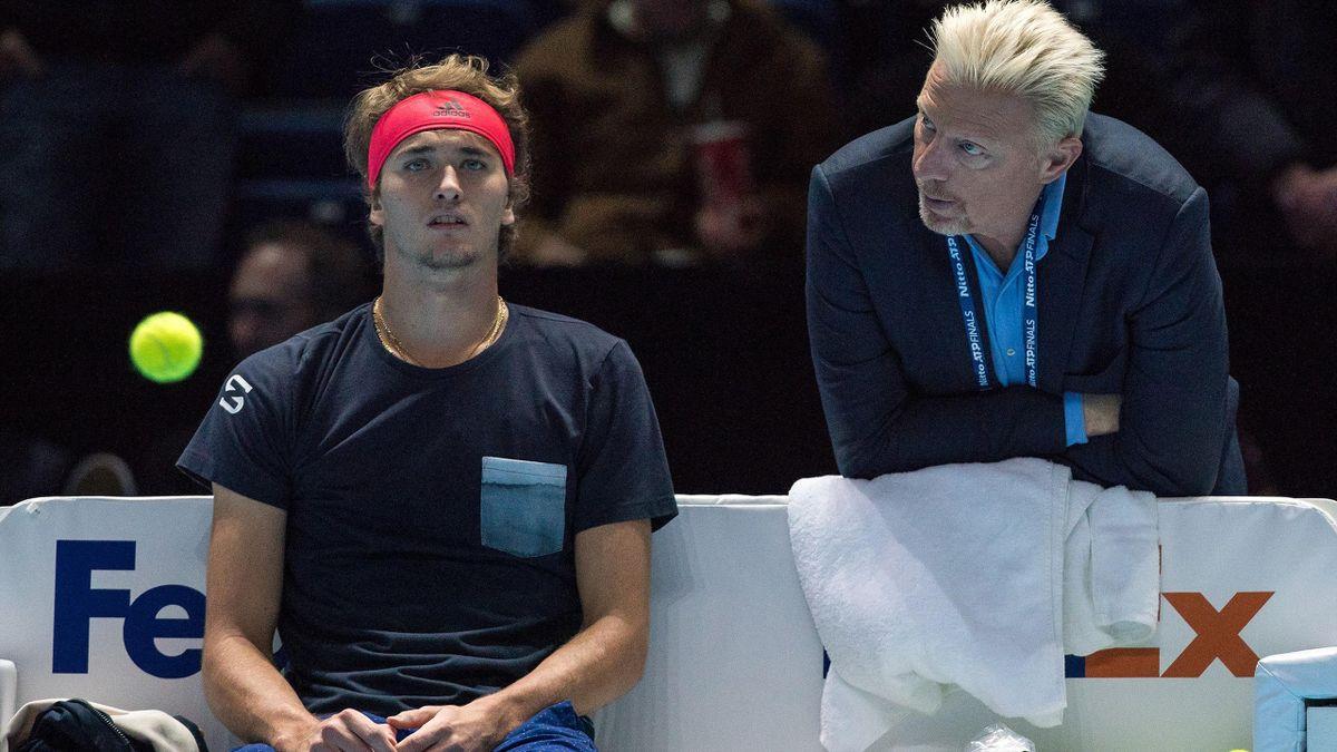 Alexander Zverev (l.) mit Boris Becker