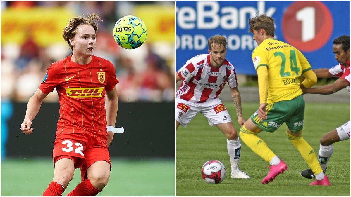 Andreas Schjelderup (Nordsjælland) og Elias Solberg (daværende Ull/Kisa, nå Juventus)