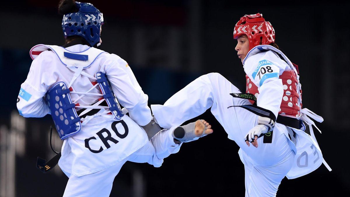 Reshmie Oogink tijdens de Olympische Spelen in 2016